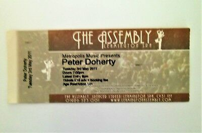 RARE PETER DOHERTY MEMORABILIA - Ticket Stub Leamington Spa Assembly 03/05/11
