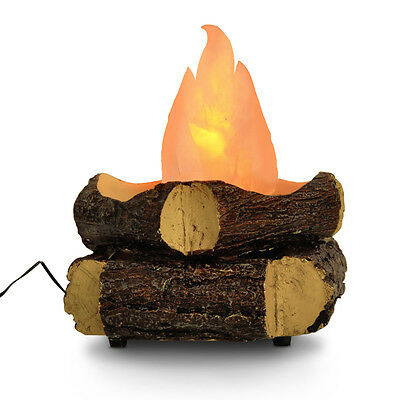 Modern LED Artificial Wood  Log Camp Fire Lamp Fans Novelty Silk Flame Light