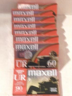 Maxell UR 60 UR 90 Normal Bias Cassette Tapes Type I Lot of 8 New Sealed
