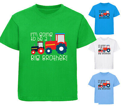 BOYS I/'M THE BIG BROTHER TRACTOR T-SHIRT FUN T SHIRT GIFT AGES 1-12