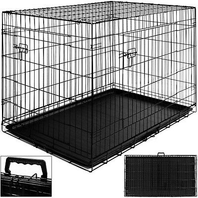 Cage Boite Transport Pour Chien & Animaux-Fermable & Pliable -Taille S & Poignee