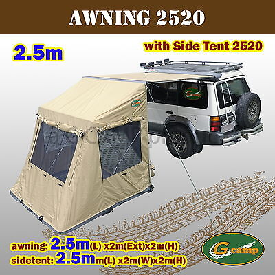 G C& 2520 Awning Side Tent Pop Up Roof C&er Trailer 4Wd 4X4 C&ing Car Rack & G CAMP 2520 Awning Side Tent Pop Up Roof Camper Trailer 4Wd 4X4 Camping Car Rack