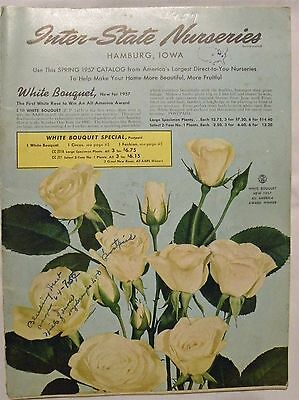 Inter-State Nurseries Hamburg Iowa Seeds/Bulbs Catalog Spring 1957