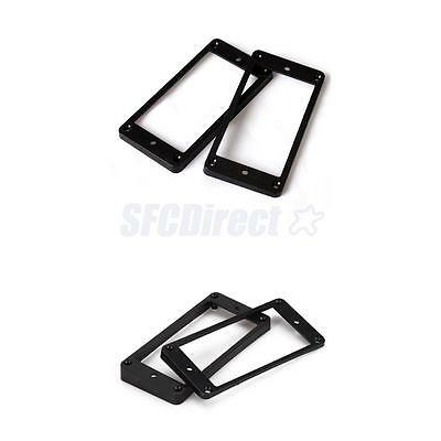 2Set Flat & Curved Humbucker Pickup Mounting Rings Frames for LP Electric Guitar