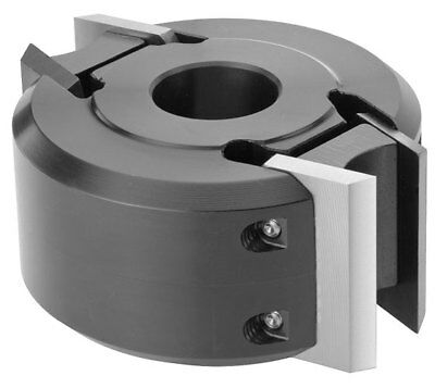 """MTL 50mm Wide x 120mm Dia x 1 1/4"""" Euro Spindle Moulder Cutter Block +00 Knives"""
