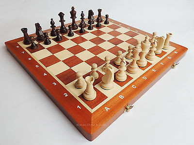 BRAND NEW MADON TOURNAMENT NR 5 WOODEN CHESS SET 48cm WITH WEIGHTED PIECES