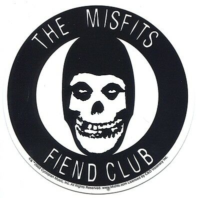 THE MISFITS fiend club STICKER - crimson ghost **FREE SHIPPING** -c s0935 decal