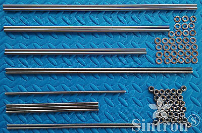 3D Drucker Smooth & Threaded Rods + Nuts Kit Rework Shaft for Reprap Prusa i3