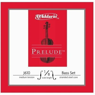 D'Addario Prelude Double Bass String Set 1/8 Scale, Medium Tension GDAE strings