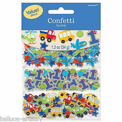 All Aboard Blue Boy's 1st Birthday Party Confetti Sprinkles Triple Pack