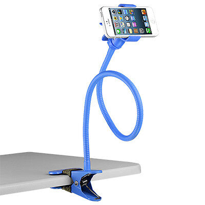 "Universal Gooseneck 27"" Clip-on Stand Blue For iPhone, Galaxy & Any Other Phone"