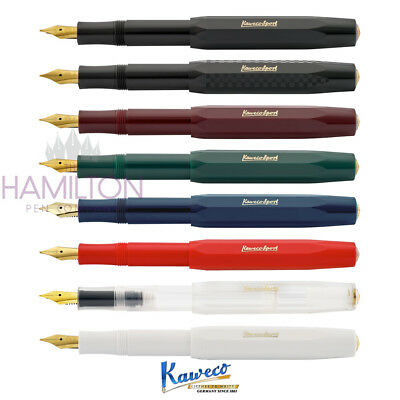 KAWECO  CLASSIC SPORT FOUNTAIN PEN - Various colours and wide choice of nibs