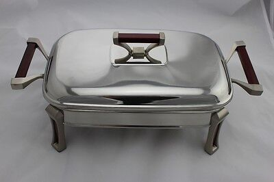Stainless Steel Chafing Dish / Chafer with Glass Food Tray - 3.0 Litres Capacity