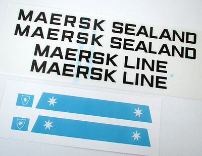 MAERSK CUSTOMISED STICKERS for Lego 10152 10155 'TRANSPARENT HULL STICKER!'