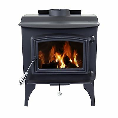 Pleasant Hearth Small Wood-Burning Stove - solid cast iron door Free Shipping