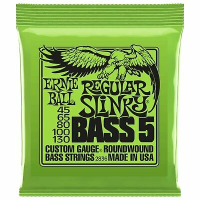 Ernie Ball 5-String Set 2836 Regular Slinky Bass Guitar Strings 45 - 130 5 Strin