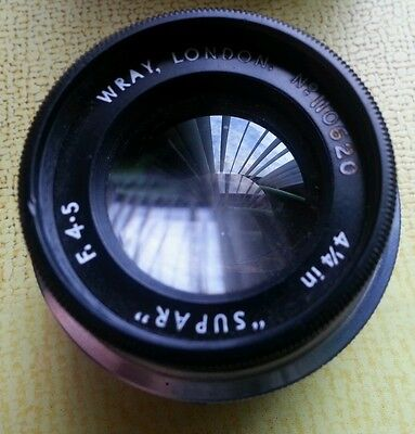 Wray enlarger lens 4 1/4 supar f 4.5 original box Darkroom printing VGC 5x4?