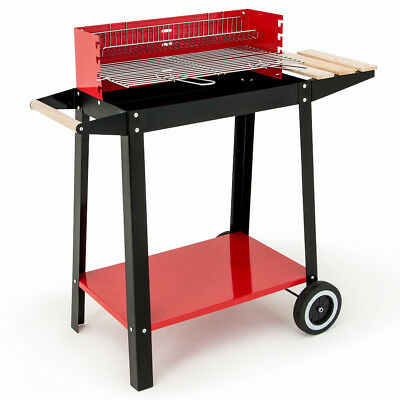 BBQ Trolley Grill Charcoal Barbecue Camp Garden Outdoor Camping Party Festival