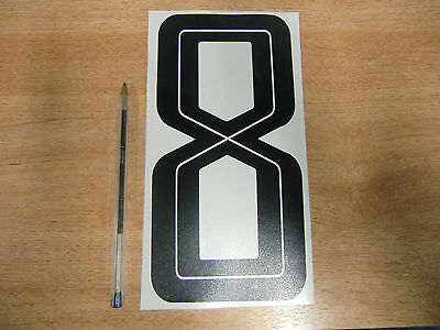 GUY MARTIN race number 8 - Black & White Sticker / Decal LARGE 200mm