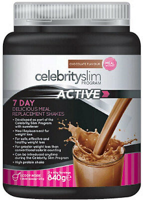 Celebrity Slim Active Shake 840g - Chocolate