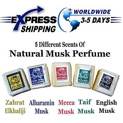 5 Scents Of Musk Jamid Natural Organic Solid Islamic Arabic Perfume None Alcohol