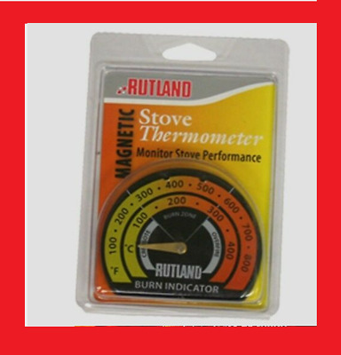 New! 701 RUTLAND Magnetic Stove Pipe Chimney Thermometer Metal Temperature Gauge