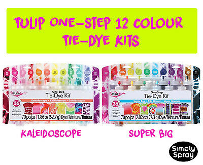 NEW Tie Dye Kit Tulip DIY Super Big Kit 12 pcs - dyes up to 36 t-shirts