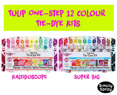 Tie Dye Kit Tulip DIY Super Big Kit 12 pcs - dyes up to 36 t-shirts FREE POST