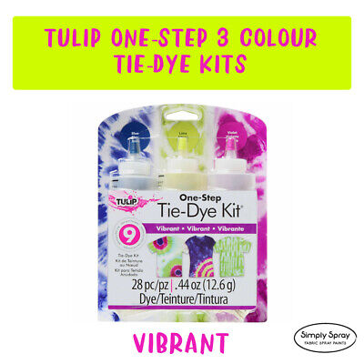 NEW Tie Dye Kit Tulip DIY Medium Kit -  VIBRANT dyes up to 9 T-shirts -FREE POST