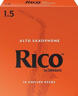 Rico Alto Saxophone Reeds  Reed Strength 1 1/2  10-pack Number 1.5  x 10 reeds