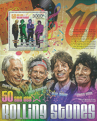 CAR 2012 Stamp, CA12115B Rolling Stones, English Rock Band, Famous People S/S