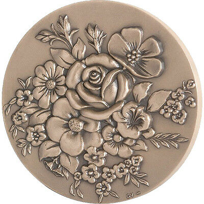 [#87559] FRANCE, Flora, The Fifth Republic, Medal, MS(65-70), Bronze, 240.00