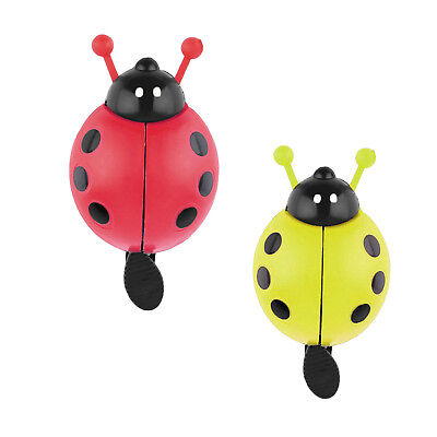 Bicycle Ladybug Kids Bell Ladybird Alarm Bike Metal Handlebar Horn Red Yellow