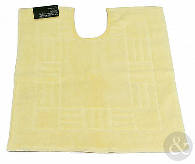 Soft Bathroom Pedestal Mat in Yellow - 100% Egyptian Cotton - Washable