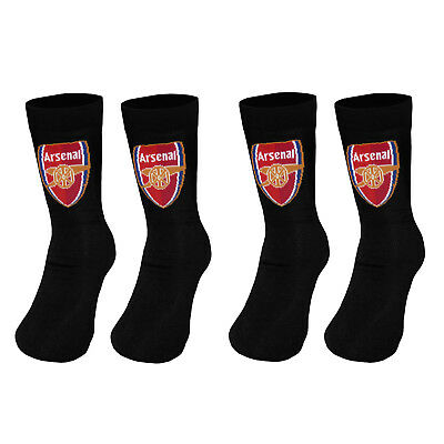 Arsenal FC Official Football Gift 2 Pair Pack Kids Boys Socks