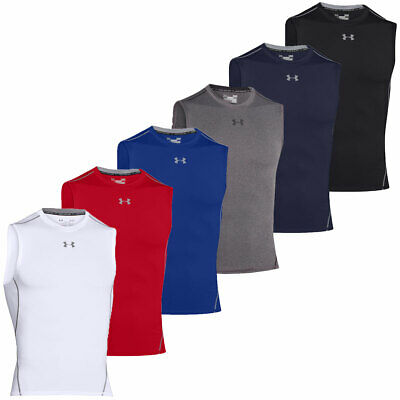 Under Armour 2016 Mens HeatGear Armour Compression Sleeveless T Shirt Layer Vest