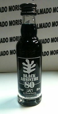 ABSENTA 40ml 80 miniatura mignonette mini bottle flaschen SPAIN BLACK ABSINTHE