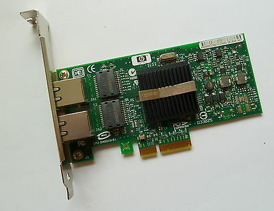 HP NC360T 412651-001  412646-0012 Port GBit PCIe Adapter Standard Bracket