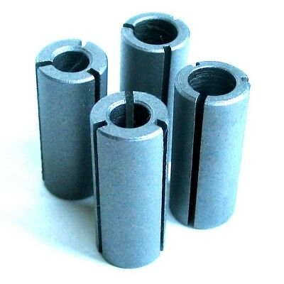 """4 pc Collet Reducer Bushing for 8mm, 1/4"""" Router Bit GSA"""