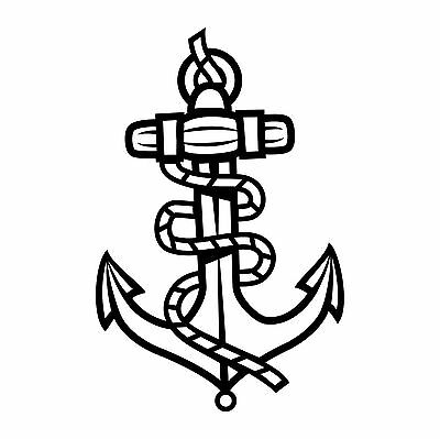 Anchor with rope vinyl decal for Wall DECORATION vinyl sticker L