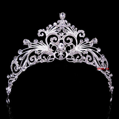 6cm High Twinkling Luxury Wedding Bridal Bridesmaid Prom Party Pageant Tiara