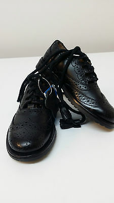 "Childrens Leather Scottish Ghillie Kilt Leather Brogues Shoes ""48 Hour Sale"""