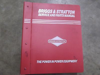 Briggs and Stratton Service and Parts manual 190,000-350,000,400,000