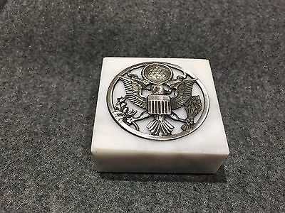 Vintage US Army Insignia Paperweight