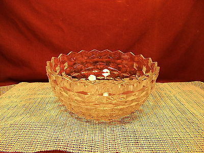 Vintage Colony Glass Whitehall Clear Pattern Round Serving Bowl 9 1/8""