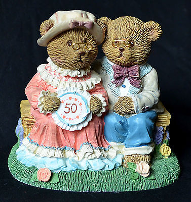 RUSS TEDDY TOWN Golden Memories of Our Wedding Day Fiftieth 50 ANNIVERSARY 13841