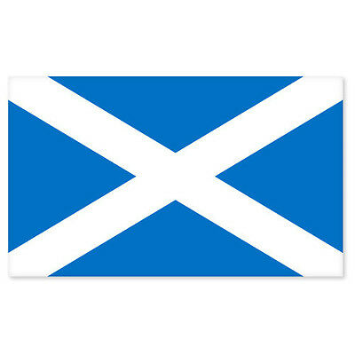 "Scotland Scottish Flag car bumper sticker decal 5"" x 4"""