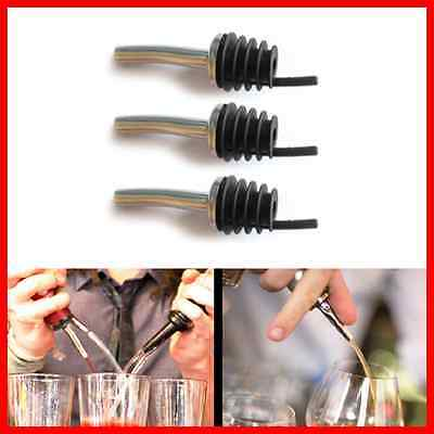 3 x Stainless Steel Spirit Pourer For Cocktails mixing free flowing bottle pour