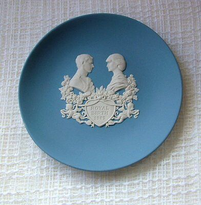 Wedgwood BLUE Jasper Ware TRINKET DISH Birth PRINCE WILLIAM 1982
