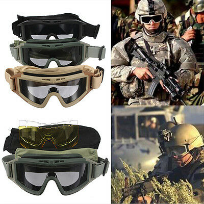 Military Tactical SWAT Hunting Airsoft Motorcycle Paintball Desert Goggles Yun